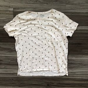 Old navy boyfriend fit pocket tee cactus print